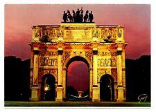 Arc de Triomphe Triumph Arch Paris France Postcard Sunset Statues Top Unposted