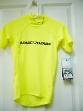 New Magic Marine Mens Cube Rash Vest Short Sleeve Shirt Upf 50+ Sz Xxxs Yellow