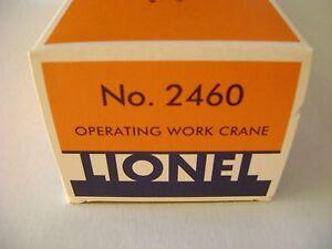 Lionel 2460 Operating Work Crane Licensed Box w/ corrugated insert