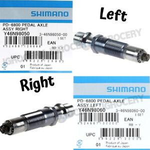 Shimano Ultegra SPD-SL PD-6800 Left/ Right Pedal Axle Assembly Pair NIB