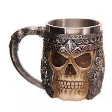 3D Striking Skull Warrior Water Tea Coffee Cup Beer Skeleton Mug Gothic Helmet
