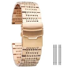 18mm 20mm 22mm 24mm Women Men Wrist Stainless Steel Universal Watch Strap Band