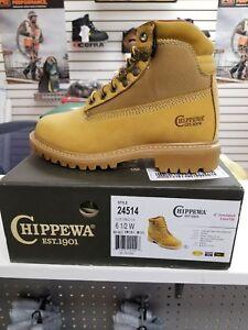 CHIPPEWA BOOTS 6''  24514 WATERPROOF SOFT TOE  6 1/2 W