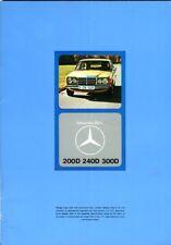 Mercedes-Benz W123 200D 240D 300D UK market 1975 sales brochure