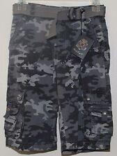 English Laundry Cargo Shorts w Belt Boy's Size 6 Grey Camo NWT $48