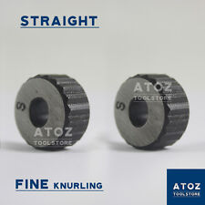 "Set of 2Pcs Straight Fine Pitches High Quality Knurls (3/4"" x 3/8"" x 1/4"") Atoz"