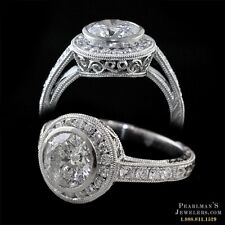 ART DECO BEVERLY K PLATINUM DIAMOND RING 1.80CT DIAMONDS.SIZE 4.5 NEW