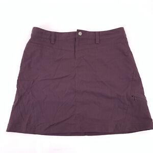 ATHLETA Skort Skirt Built In Shorts Zipper Pockets Stretchy Purple Size 10