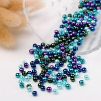 1 Bag Mix Pearlized Glass Pearl Round Beads spacer beads For Jewelry Making 4mm