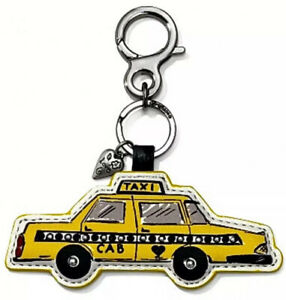 NEW Brighton Cabbie Keyring Key Fob Yellow Taxi Cab Leather NWT