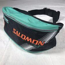 Vintage SALOMON Club Ski Retro Fanny Pack Bag Skiing Teal Orange Black Fannypack