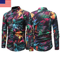 Fashion Men's Casual Luxury Stylish Slim Fit Long Sleeve Casual Dress Shirt Tops