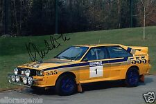 "World Rally Championship Driver Hannu Mikkola Hand Signed Photo 12x8""  AI"