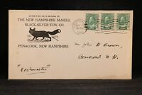 NH: Penacook 1916 Black-Silver Fox Co Advertising Cover, Mailed from Canada