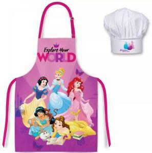 Official Disney Princess Apron Set Kids Children Christmas Baking Gift 3-8 Y