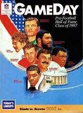 1987 New York Giants Home vs Cleveland Browns NFL Football Program