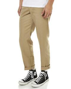 Dickies Slim Straight Fit Work Pants KHAKI WP873 New Skateboard Bmx Jeans