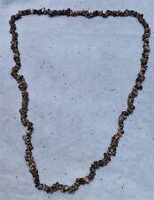 "Leopard Skin Jasper Natural Chip Gemstone Beads Strand Necklace. 33"" Long NOS"