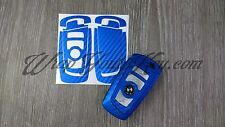 Blue Carbon Fiber BMW Key Sticker Decal Overlay Series 5 F10 F11 F18 F07