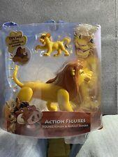 Disney Lion King Action Figures Adult Simba and Young Simba