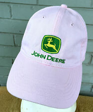 John Deere PINK I Love Adjustable Baseball Cap Hat Farming Tractor