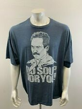 """""""No Soup For You"""" Seinfeld TV Show Tee Men's 3X Gray Crew Neck Graphic T Shirt"""