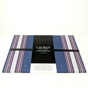 "Ralph Lauren 6pk White,Red,Blue 13"" x 19"" PVC Vinyl Outdoor Dining BBQ Placemats"