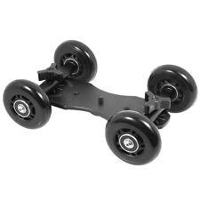 Reino Unido Tienda! cameraplus-Flex Skater Dolly (negro) Para dslr/point & disparar las cámaras