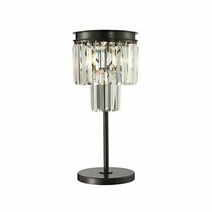 Dimond Lighting 14210/1 Palatial Crystal Fringe Table Lamp, Oil Rubbed Bronze