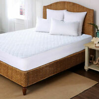 NEW COTTON QUILTED MATTRESS DEEP FITTED DIAMOND PROTECTOR BED COVER ALL Sizes