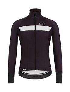 Santini Vega H20 Long Sleeve Cycling Jersey in Black