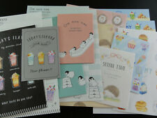 Stationery 8 Mini Letter Set Writing Paper envelope cute Note Special Gift Lunch