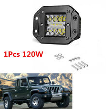 1Pcs 120W Flush Mount Work Light Pods 5inch CREE LED SUV Bumper Reverse Lamps