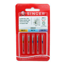5 Pk. Genuine Singer 2022 Assorted Size Serger Overlock Sewing Machine Needles