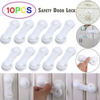 10Pcs Baby Kids Safety Lock Box Drawer Cupboard Cabinet Fridge Door Child Proof