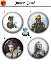 """Collection 4 Pin/Button/Badge 'Julien Doré' Ø32mm/1,25"""""""
