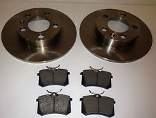 AUDI A3 97-03 1.6 1.8 1.8T 1.9 REAR BRAKE DISCS AND PADS