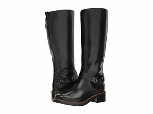 COACH Sutton Boot (Black Leather,Saddle Leather) ** FREE SHIPPING **