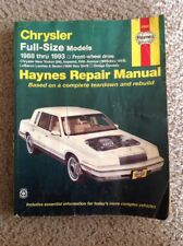 Haynes Repair Manual # 25020 Chrysler Full-Size Models 1988-1993 Imperial LeBaro