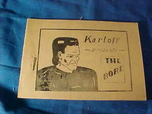 "1930s TIJUANA BIBLE 8 Page COMIC Book-KARLOFF Presents "" THE BORE """