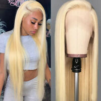 Pre Plucked Ladies Blonde Remy Indian Human Hair Lace Front Wig Full Lace Wigs P