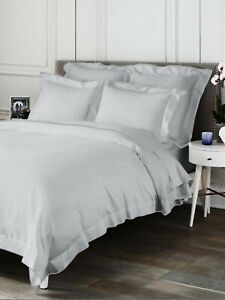 $445 NEW MADE IN ITALY SAKS FIFTH AVE BUTTERFLY FLANGE COTTON FULL/QUEEN DUVET