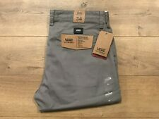 71622e7bcf VANS Authentic Chino Stretch Pants Flat-Front Khaki Navy Olive Plaid 32 34  NEW!