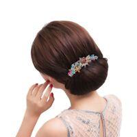 Belles bijoux Fleurs Clips de cheveux en cristal - pour pinces A cheveux Ou J6M1