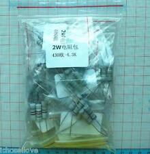 430 - 4.3K ohm 2W 21-Value Each 5pcs Resistors Assortment Kit 5% Resistance Set