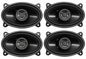 (4) Hifonics ZS46CX Zeus 4x6 Inch 800 Watt 2 Way Coaxial Car Audio Speakers