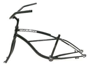 """14"""" Cruiser 24"""" Steel Bike Frameset + Fork Black Single Speed NEW"""