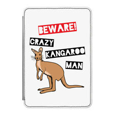"Beware Crazy CANGURO Man Funda para Kindle 6"" E-Reader - Divertido Australia"