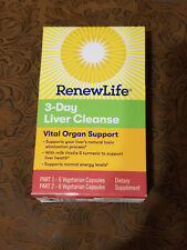 Renew Life - 3 day Liver Cleanse Vital Organ Support EXP 6/2021 +