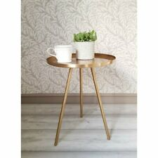 Brass Contemporary Metal Side Table. A63268B Coffee/Side or Bedside table. New